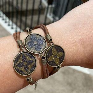 up cycled Authentic Louis Vuitton bracelet